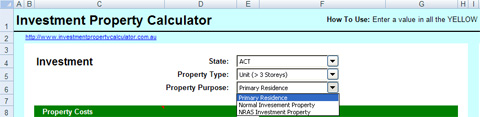 How to use PPOR & NRAS investment property calculations